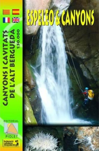 Espeleo & Canyons. Canyons i Cavitats de  l'alt Bergueda. Mapa 1:50.000
