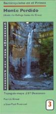 Carte N°3 - Mont Perdu : du rio Gallego au rio Cinca.
